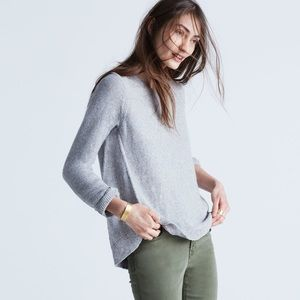 Madewell Riverside Textured Sweater, Gray